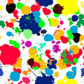 Ink splats pattern in colors — Stock Photo