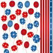 Stars and stripes balloons — Stock Photo