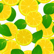 Lemon slice pattern — Foto de Stock