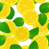 レモン スライス パターン — ストック写真