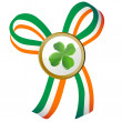 Four leaves clover badge — Stock Photo