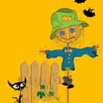 Halloween wenskaart — Stockfoto