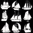 Stock Photo: Sailing ships collection