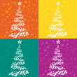 christmas tree background — Stock Photo