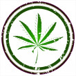 Marijuana stamp - Stock Photo