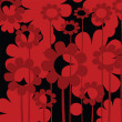 Red floral icon — Stock Photo