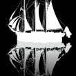 Sailing boat sketch — Stock Photo