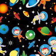 Stock Photo: Astrounauts pattern