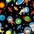 Astrounauts pattern — Stock Photo