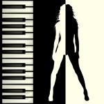 ピアノバー パンフレット — ストック写真