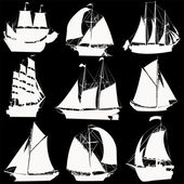 Sailing ships collection — 图库照片