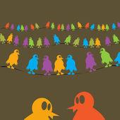 Chatting birds — Stock Photo