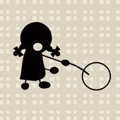 Little girl sketch — Stock Photo