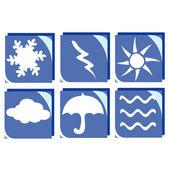Weather icons — Stock Photo
