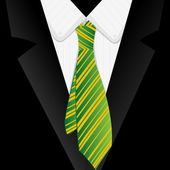 Striped green tie — Stock Photo