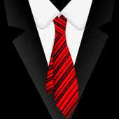Striped red tie — Stock Photo