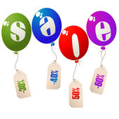 Sale balloons concept — Stock Photo