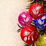 Christmas tree decoration card — Stock Photo #4536524