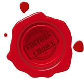 Editors choice seal — Stock Photo