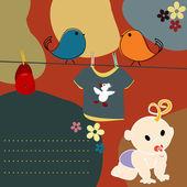 открытка на рождение — Стоковое фото