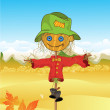 Scarecrow background — Stock Photo