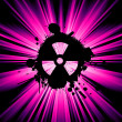 Stock Photo: Nuclear hazard background
