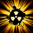 Stock Photo: Grunge nuke sign