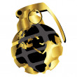 Golden hand grenade — Stock Photo