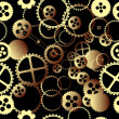 Clockwork gears pattern — Stock Photo