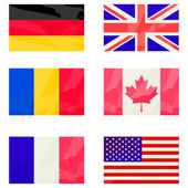 Stylized flags collection — Stock Photo