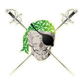 Pirate skull sticker — Stock Photo