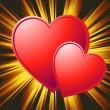 Two hearts Valentine — Stock Photo