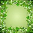 Clover frame background — Stock Photo