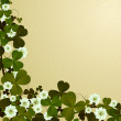 Clover leaf border — Stock Photo