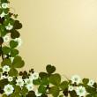 Clover leaf border — Stock Photo