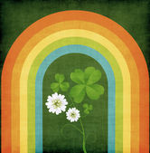 Grunge clover card — Stock Photo