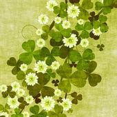 Grunge clover leaves — Stock Photo