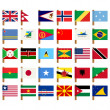 World flag icons set 5 — Lizenzfreies Foto