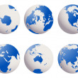 Stock Photo: Earth globes set