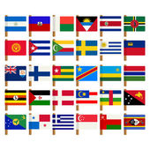 World flag icons set 7 — Stock Photo