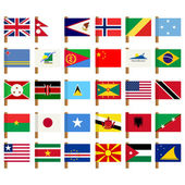 World flag icons set 5 — Stock Photo