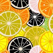 Lemon slices pattern — Stock Vector