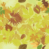 Green leaves pattern — Vecteur