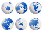 Earth globes set — Stock Vector
