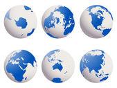 Earth globes set — Stock Vector