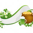 St. Patrick&#039;s Day ribbon - Stock Photo