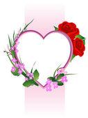 Alla hjärtans dag blommor sammansättning — Stockfoto