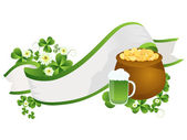 St. Patrick's Day ribbon — Stockfoto