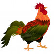 Standing rooster - Stock Photo