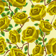 Yellow roses pattern — Stock Photo